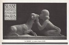Publicité  SUSSE Frères  sculp. PEYRE Design Art Deco  vintage print ad 1927 -5h