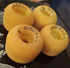 Vintage G&S 3 Guys Skateboard Wheels Blender Gordon & Smith Yellow