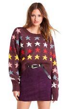 WILDFOX - Rainbow Stars Elektra Sweater Crushed Berry Revolve - M NWT