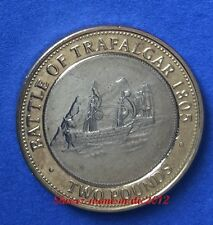 2005 GIBRALTAR £2 COIN Battle Of Trafalgar UNC
