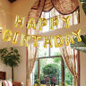 Self Inflating Happy Birthday Banner Foil Balloon Bunting Gold Silver Letters SY