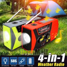 Emergency Solar Hand Crank Dynamo AM/FM/NOAA Radio LED Flashlight Lamp Charger