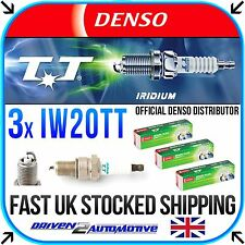 3x DENSO IW20TT IRIDIUM TT SPARK PLUGS FOR SUBARU JUSTY 1000 4WD 05.87-11.94