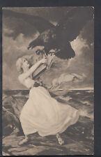 Artist Postcard - Paul Heckscher Art Reproduction - Lady & Eagle  RS6211