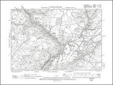 Ystalyfera north, old map Glamorgan 1901: 3SW repro Wales