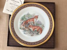 """Lenox Boehm Woodland Wildlife 10.5"""" Collector Plate 1974 Red Foxes"""