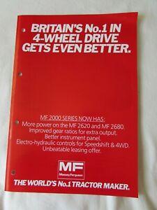 @Massey Ferguson 2000 Series Tractor Brochure 1982@