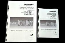 Panasonic Lumix DMC SZ1  User guide Instruction manual*PRINTED IN COLOUR* A4/A5