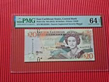 More details for east caribbean states, central bank 2012 20 dollars pmg 64 choice unc epq p# 53a