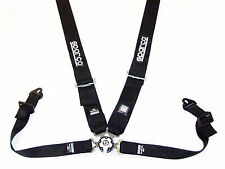 """Sparco Seat Belt Harness Competition (BLACK) 4 Point Snap-In 3"""" with Camlock"""