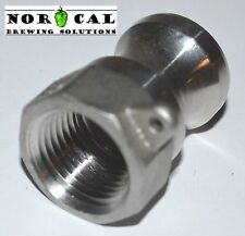 """CAM LOCK CAMLOCK TYPE A Groove Adapter Male to 1/2"""" NPT Female 316 Stainless"""