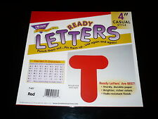 """New Trend Ready Letters 71 Characters 4"""" Casual Style Non Adhesive T-457 Red"""