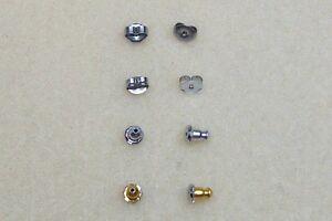 Hypoallergenic Nickel Free Earring Backs for sensitive skin, 2 styles 2 colours