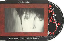 PAT BENATAR CD STRAWBERRY WINE USA PROMO 2 MIX Radio Ed
