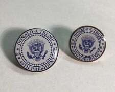 Donald Trump 45th Presidential Seal Lapel Pin 2017 Made in USA Set of 2