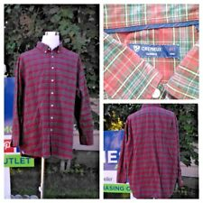 Daniel Cremieux Shirt 4XT Heavy Red and Green Plaid High Grade inv#S8079