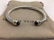 David Yurman Classic Cable 5mm Bracelet With 14K Gold & Black Onyx