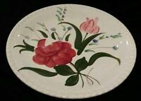 Blue Ridge BLUEBELL BOUQUET Southern Pottery Candlewick 9-1/4 in Plate Round