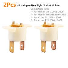 2x Car H1 Headlight Bulb Socket Holder For Honda CR-V 05-06 Prelude 33116SD4961