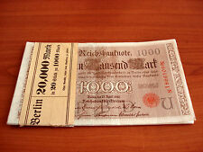 20 Stück Eintausend Mark 1000 Mark 1910 fortlaufende Nummern