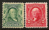 US #300 & #301 MNH OG ~1902-3 Washington & Franklin ~ Fresh & Sound  Stamps