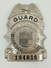 Burns International Security Services Security Guard Badge (Vintage)