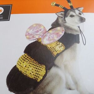 PET COSTUME LED BUMBLE BEE DOG cat SIZE xs NEW LIGHTS UP TO 10 LBS