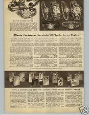 1956 PAPER AD Lighters Zippo Ronson Evans K&K Elgin Cigarette Windproof Windsor