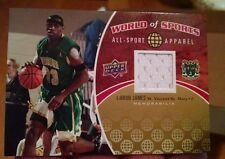 2010 UD World Of Sports Lebron James Rare Game Used Jersey Worn Upper Deck