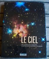 Beau Livre Illustré LE CIEL : 100 Questions pour Comprendre Le Système Solaire !