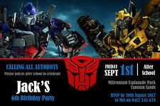 Personalised Transformers Birthday Party Invitation - You Print