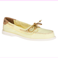 Sperry Top-Sider Women Flat Original Canvas Venice Boat Shoes Yellow
