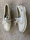 Women's SEBAGO Ivory Leather Docksides Boat Shoes Size 9