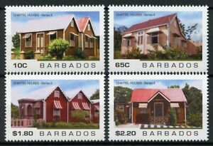 Barbados Architecture Stamps 2019 MNH Chattel Houses II Cultural Heritage 4v Set