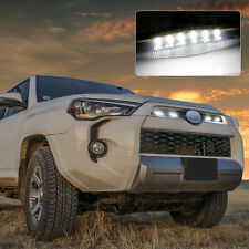 4x Raptor Style Smoke LED Lamps Grill Light For Toyota 4Runner TRD Pro 2015-2021