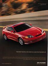 "2003 Hyundai Tiburon GT V6 Coupe photo ""Most Fun with Seats Up"" promo print ad"