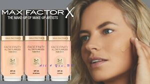 MAX FACTOR FACEFINITY ALL DAY FLAWLESS 3IN1 FOUNDATION SPF20~Please Choose Shade