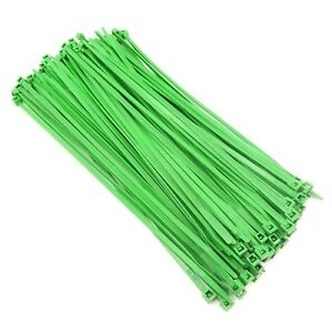 """Color Zip Cable Ties 8"""" 40lbs 100pc Made in USA Nylon Wire Tie Wraps"""