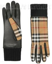 Burberry Beige 7 Vintage Check & Lambskin Cashmere Lined Gloves Auth