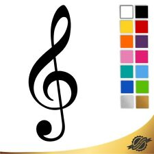 Aufkleber Sticker Autoaufkleber Auto Notenschlüssel Musik 10 x 3,5 cm