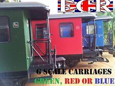 G SCALE 45mm GAUGE RAILWAY PASSENGER CARRIAGE GARDEN ROLLING STOCK COACH TRAIN