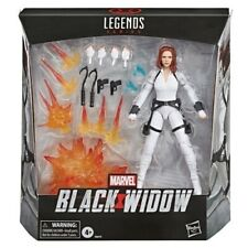 Black Widow Marvel Legends 6-Inch Deluxe White Costume & Stand Ships April 2020!