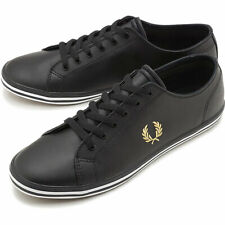 Fred Perry Kingston Leather Black Sneaker - Size UK8 /EU42 , NEW