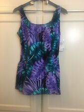 Azul by Maxine of Hollywood- Tropical Swim Dress size 16