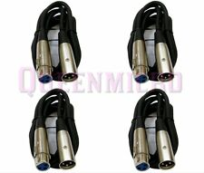 4 Pack - 3ft XLR Pro Audio 3Pin Male to Female Mixer MIC Microphone Cord Cable