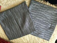 "2 x Black 18"" Cushion Covers"