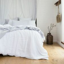 Bambury 100% French Linen Quilt Cover Set Ivory