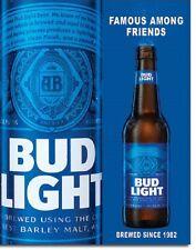 Bud Light Logo Anheuser Busch Budweiser Famous Friends Wall Decor Metal Tin Sign