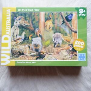 Gary Fleming Puzzle Wild Australia Puzzle 200 Pieces KANGAROO Puzzle WOMBAT