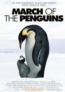 March of the Penguins 2005 Luc Jacquet, Morgan Freeman - Movie Cinema Poster Art